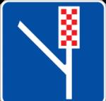 تابلو خط عبور برای گریز