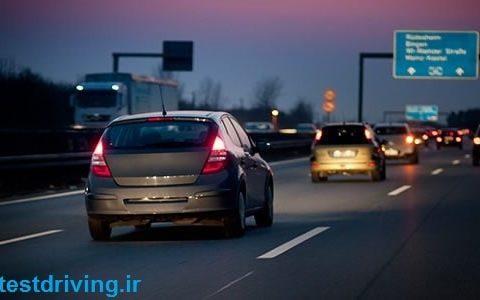 قوانین رانندگی در شب